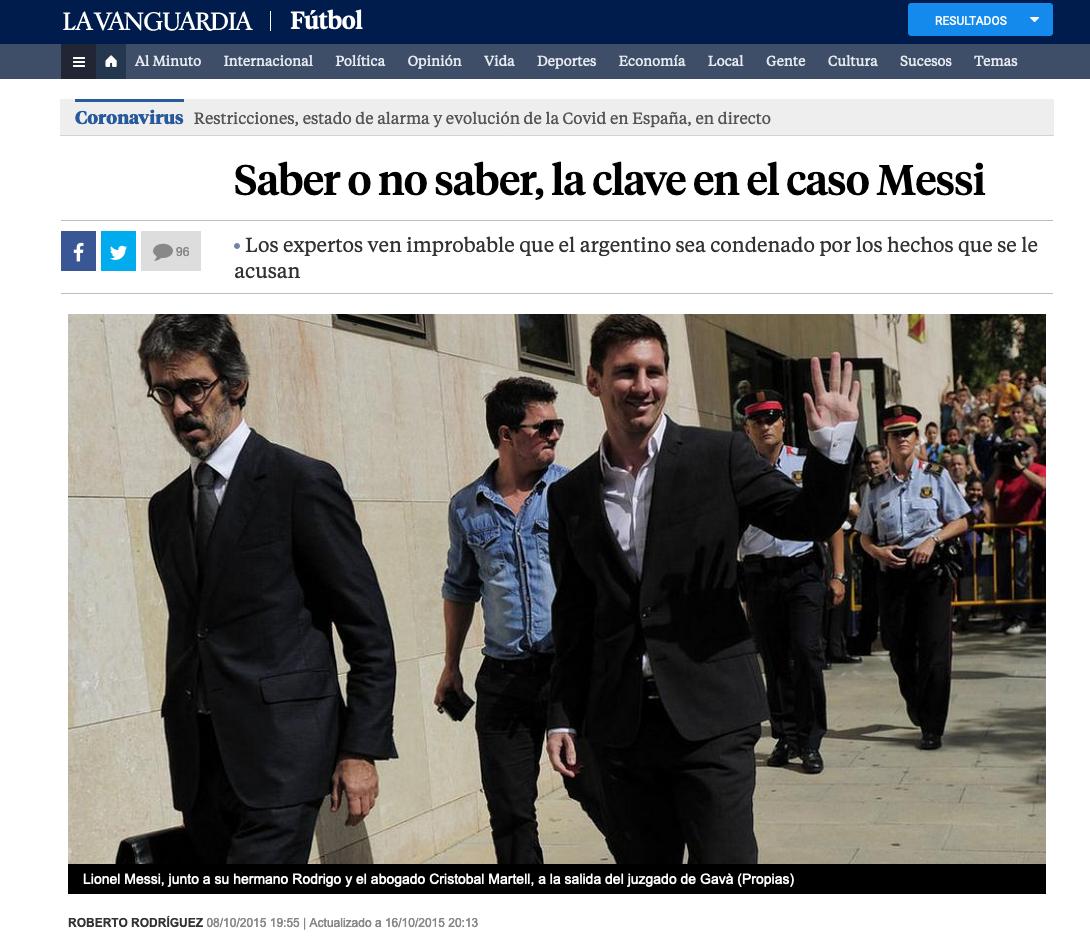 Saber o no saber, la clave en el caso Messi